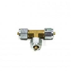 Тройник соединительный Т-образный D6xD6xD6 мм для термопластиковой трубки