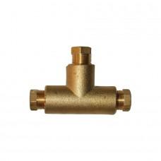 Тройник соединительный Т-образный D6xD6xD6 мм для медной трубки, BRC