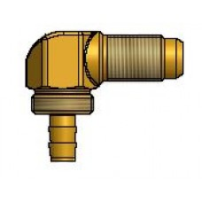 Штуцер Faro соединительный для термопластиковой трубки диам. 6, 90°, резьба M10x1