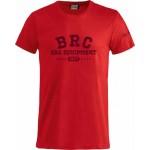 Красная футболка BRC с надписью на груди