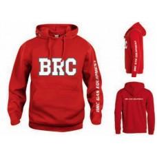 Красная толстовка BRC с надписью на груди