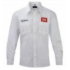 Рубашка BRC белая с нашивками