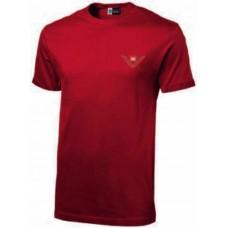 Красная футболка BRC со значком