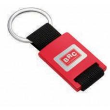 Брелок BRC красный с черной полиэфирной лентой